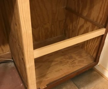 Cabinet Box Modification for New Drawers